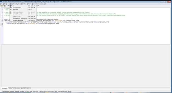 runSQL-Script-run