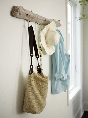Wall hanging rack driftwood art