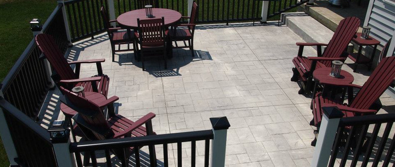 Stamp Concrete Patio/ Porch