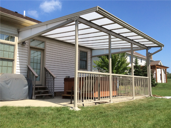 Natural Light Patio Cover Awning for over hot tubs Lake County Ohio