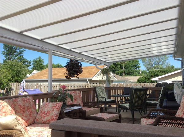 Acrylic Patio Awnings and Enclosures Chardon Ohio. Natural Light Patio Covers