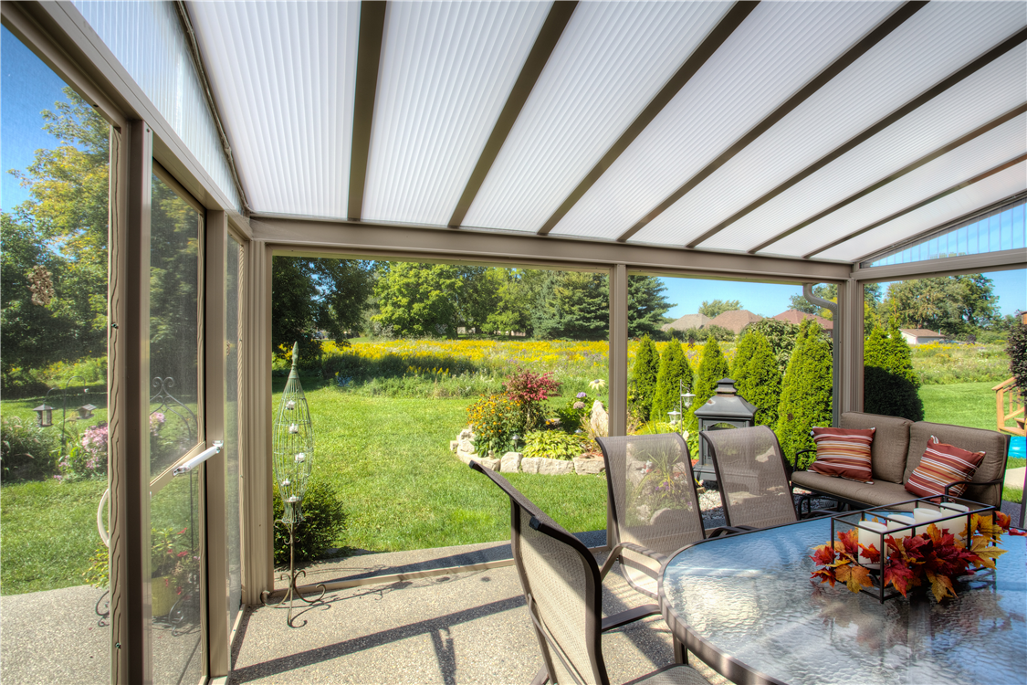 Acrylic Patio Awnings and Enclosure Mentor, Ohio. Natural light patio covers