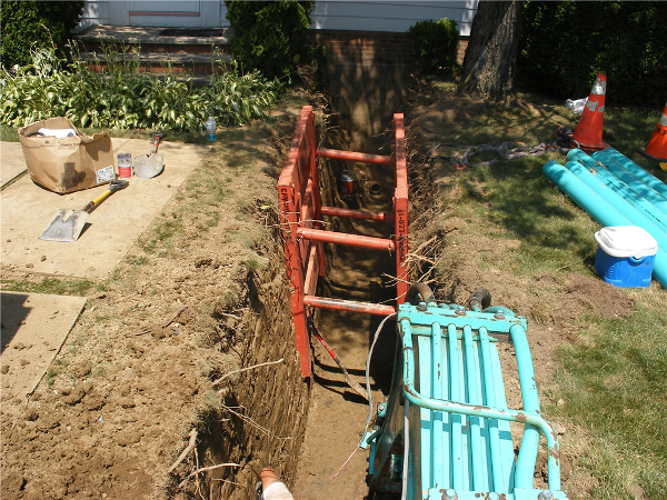 Close Up of Sewer Work located in Eastlake Ohio