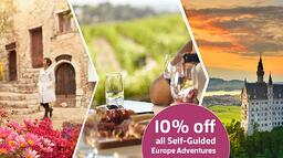 10% OFF SELF-GUIDED EUROPE