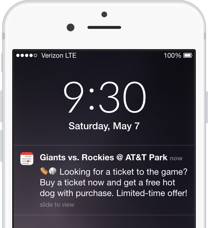 calendar push notifications for micro-moments