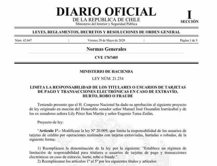 diario-oficial-ley-extravio-hurto-robo-fraude-tarjeta