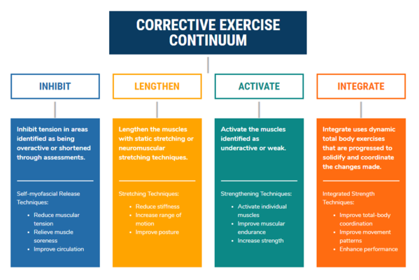 diagram of the corrective exercise continuum