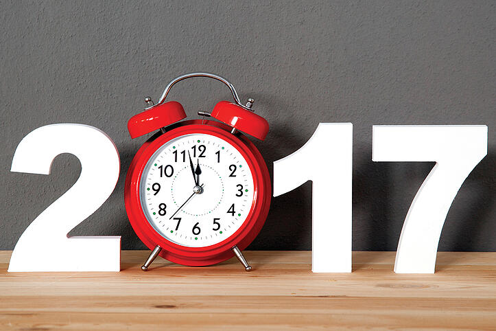 alarm clock for a new year in 2017