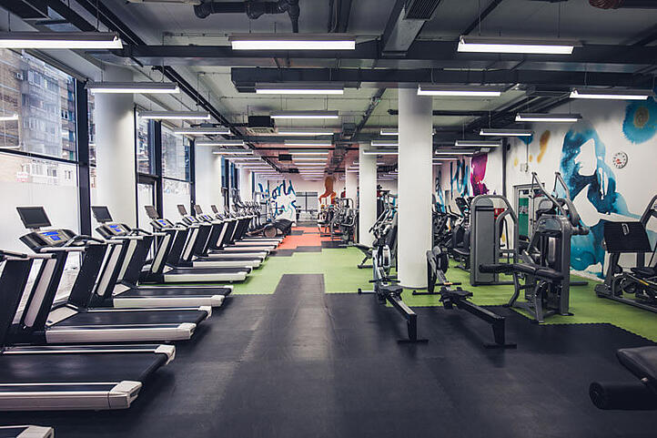 a clean, disinfected gym