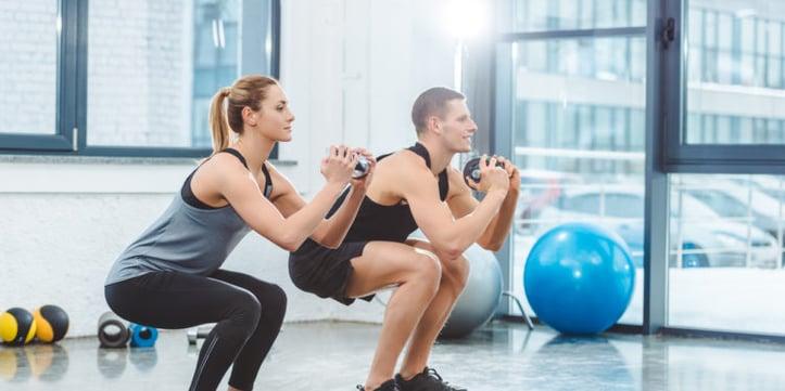 clients doing squats