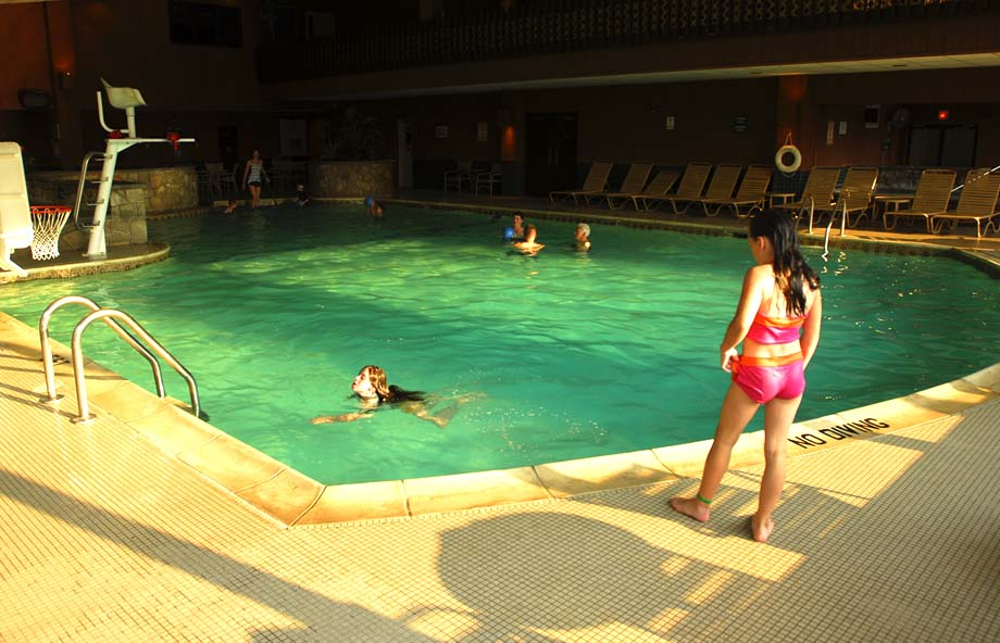 Swimming at an All Inclusive Family Resort