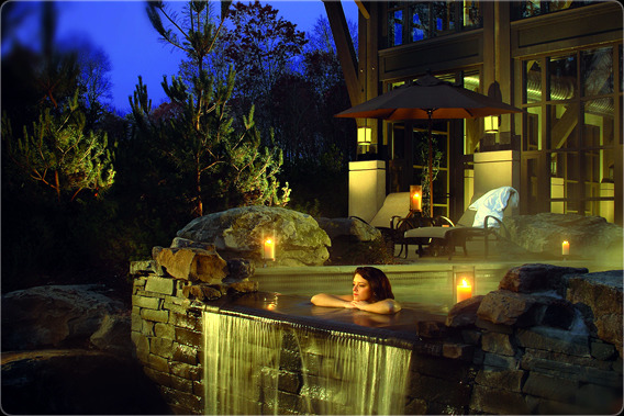 luxury spa, poconos ski
