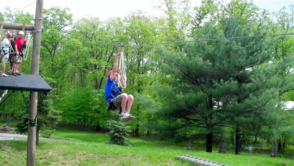 Zip line in the poconos