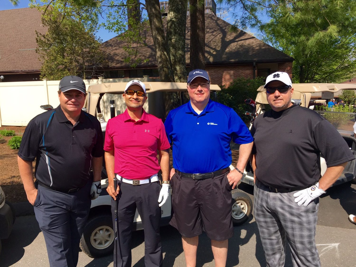 From left: Tom Corbin (RGBSI), Ravi Kumar (RGBSI), Steve Bohlman (UTC), Scott Aicher (RGBSI) at the start of the tournament