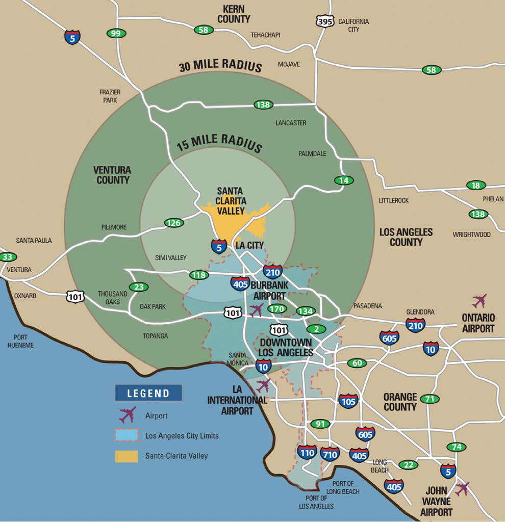 The Santa Clarita Valley has a premier location