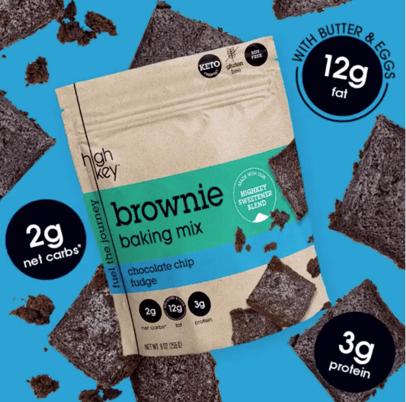 high key brownie baking mix keto