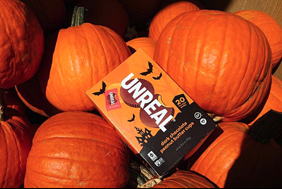 unreal halloween candy dark chocolate peanut butter cup gluten free