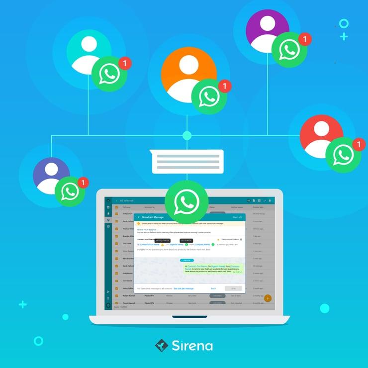 Envía mensajes de WhatsApp sin riesgos: presentamos Sirena Broadcast Messages