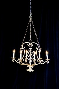 Large gold vintage chandelier rental charleston sc from AV Connections