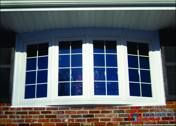 replacement bow windows before amp after modern bow bow windows replacement windows springfield missouri
