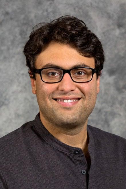 headshot of assistant professor Maaz Gardezi