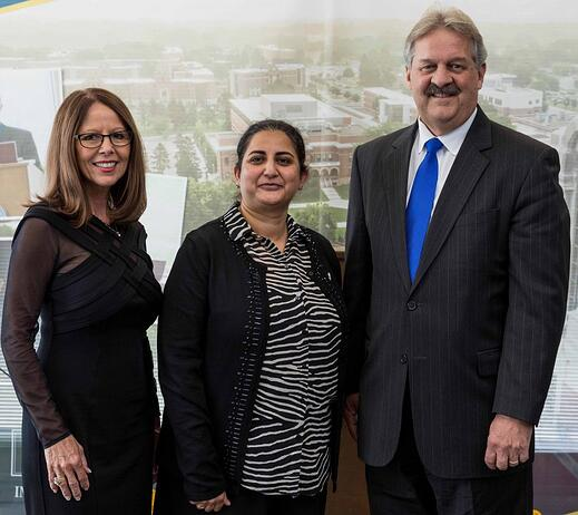 From left Lori Haarberg, Komal Raina, Kevin Haarberg
