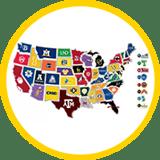Safe US Campus Map