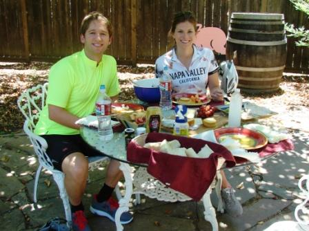 Biking Wine Country picnic
