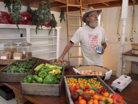 Lou Preston at his Farm Stand in Dry Creek Valley