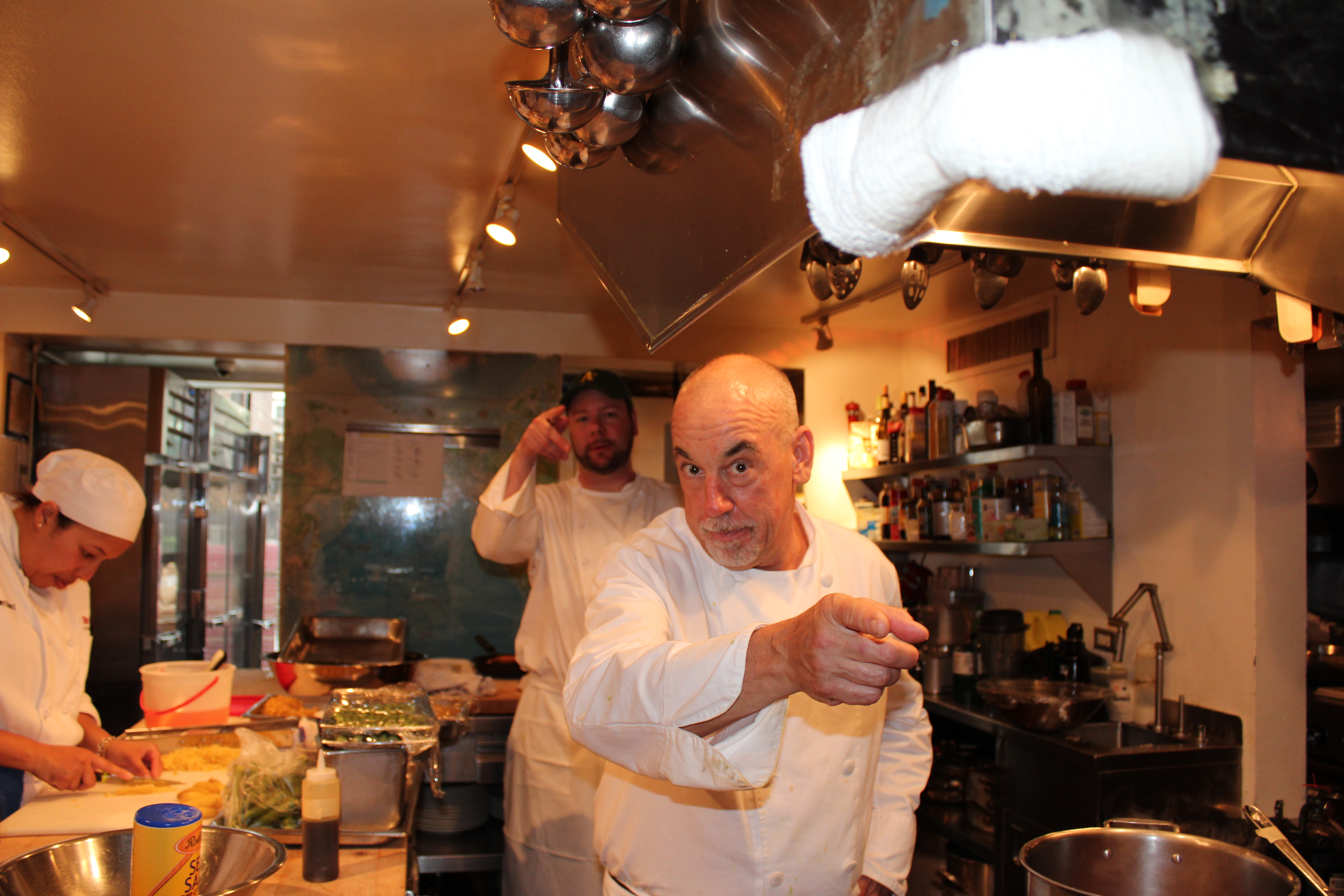 Farmhouse Chef Steve in James Beard kitchen