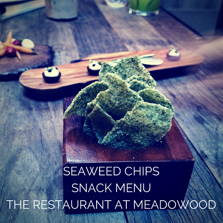 Seaweed Chips at Meadowood