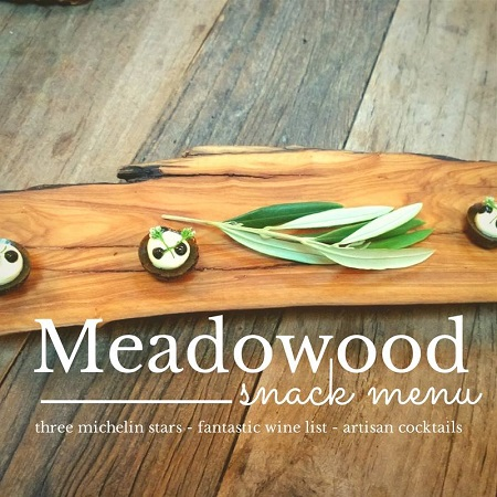 Meadowood Snack Menu