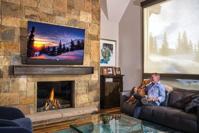 European Home Fireplace in Colorado