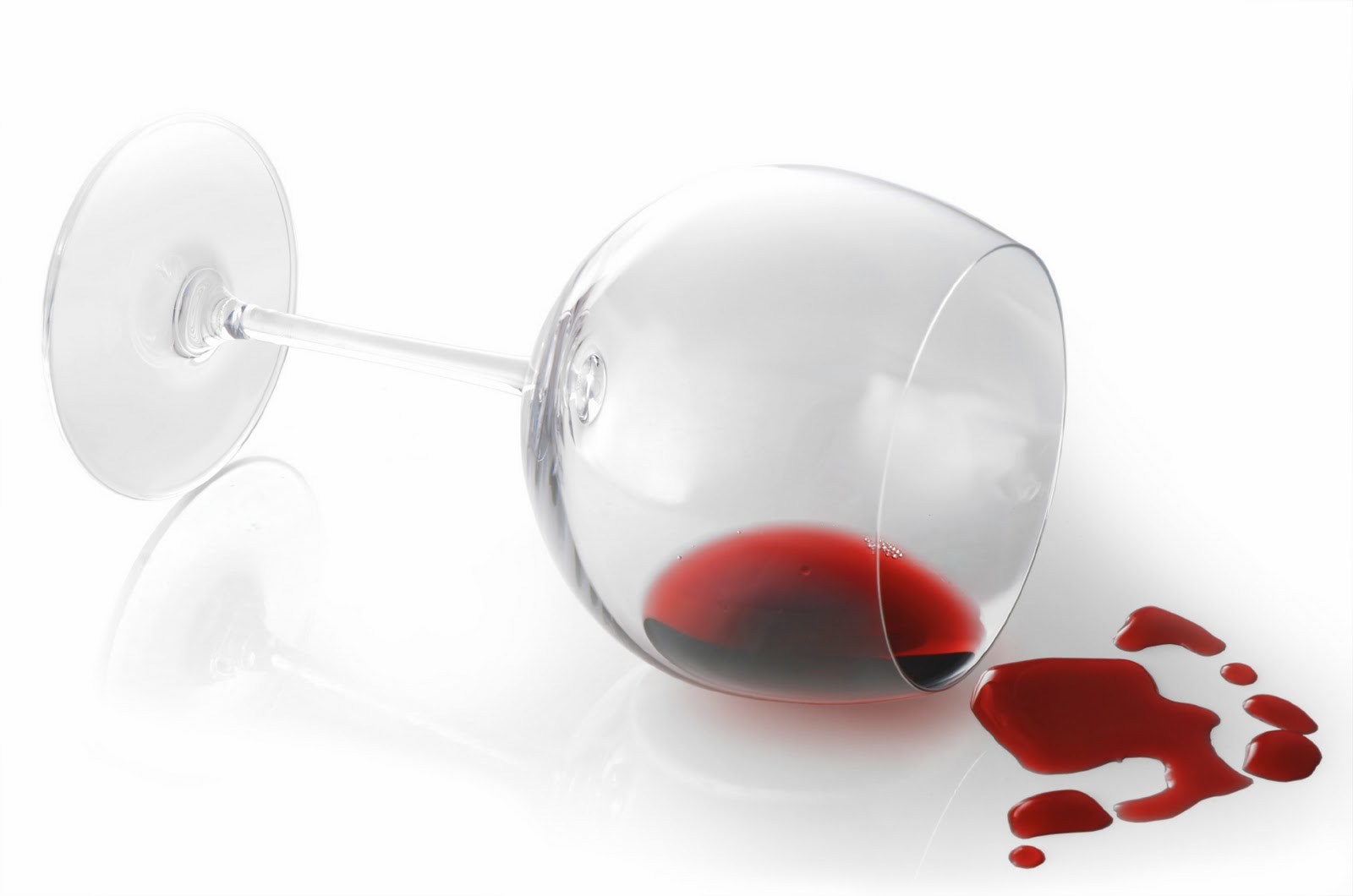 Wine Glass Spilling Contents Stock Photo 228681352