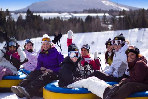 Sliding Through Winter at Valcartier