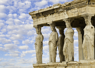 The Acropolis Carytids in Athens Greece