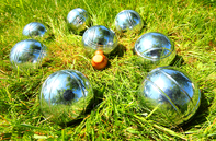 Petanque playing balls in France
