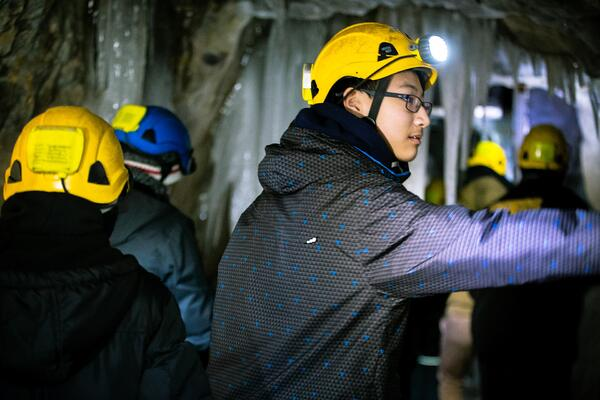 Student Educational Winter Tour Arabaska Lafleche Caves