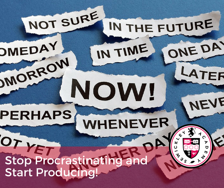 Stop Procrastinating and Start Producing!