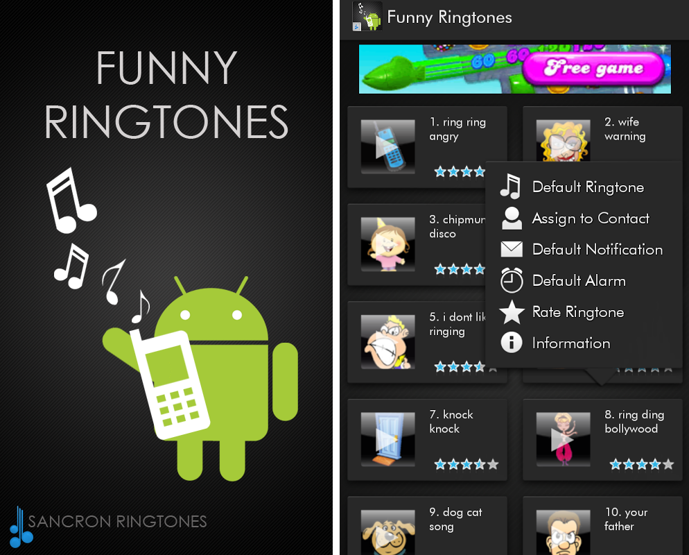 Ringtones for your mobile phones Download for free FreeTone