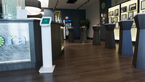 dispensary kiosks for in-store ordering and product information is a new cannabis retail technology