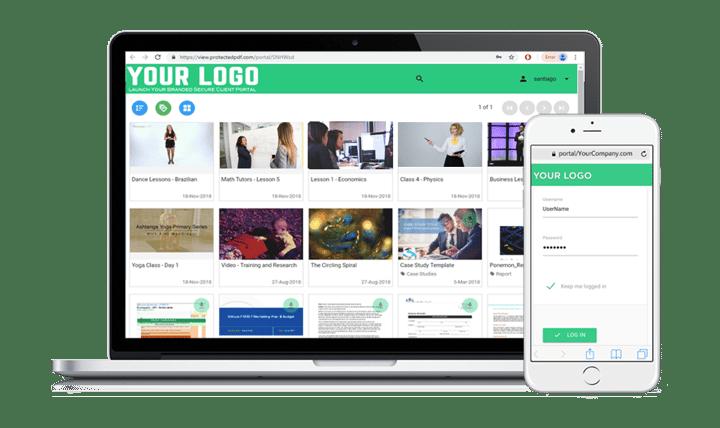 Vitrium's Secure Client Portal