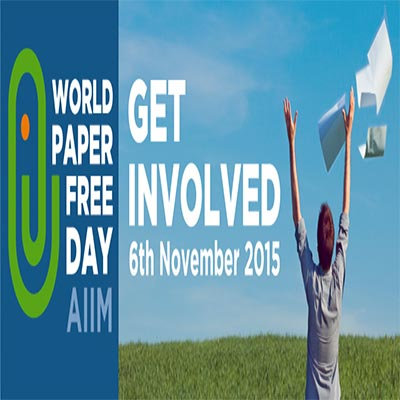 It's World Paper Free Day – November 6, 2015