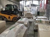 Curved slabs of French Limestone