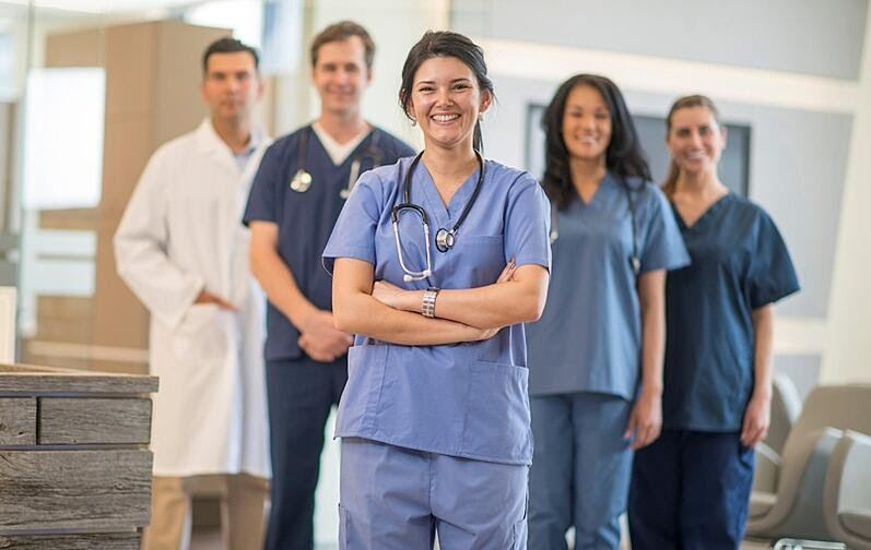a group of nurses standing together