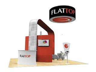 20x20 fabric booth from the tradeshow network marketing group