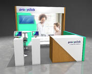 10x10 booth design