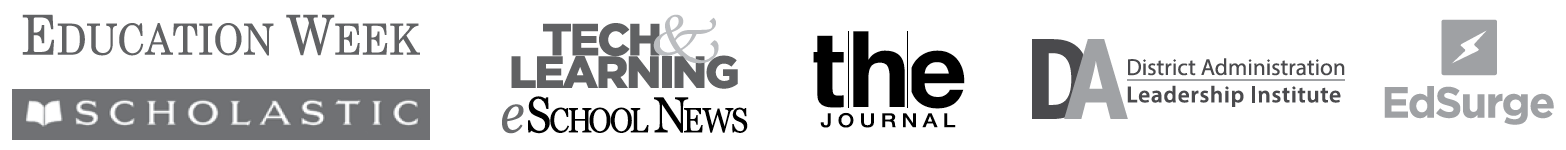 Featured Publications, including Education Week, eSchool News, EdSurge, and more