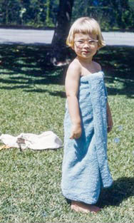 Jennifer Larsen Morrow, Creative Company founder in Hawaii, age 3.