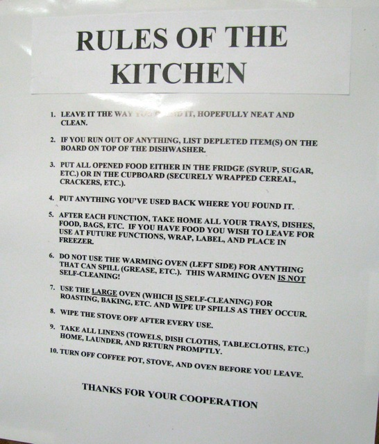 Signs Found In A Commercial Kitchen